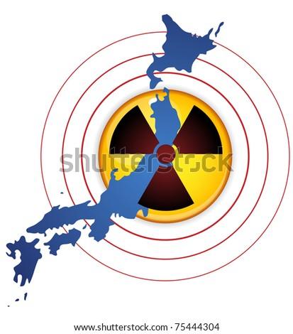 Japan Earthquake, Tsunami and Nuclear Disaster 2011 - stock photo