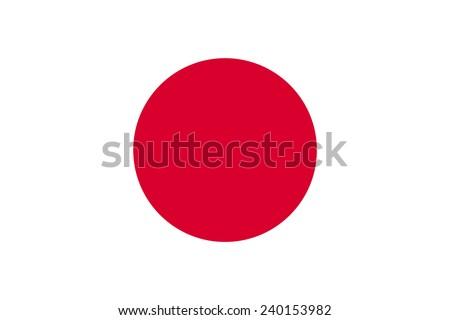 Japan flag pattern - stock photo
