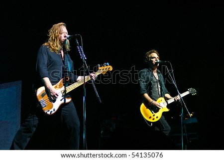JAPAN - MARCH 13: Jeff Pilson and Thom Gimbel of Foreigner perform on March 13, 2007 Tokyo, Japan