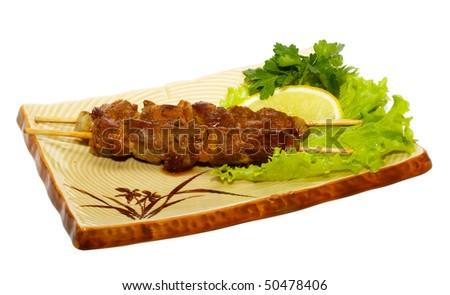 japan traditional food - bbq - stock photo