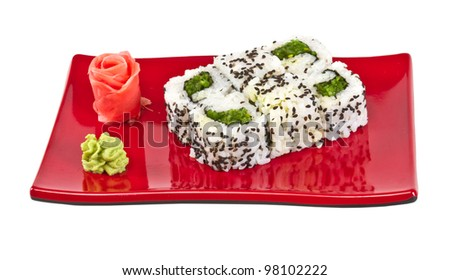 japan vegetarian roll with nori