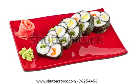 japan vegetarian roll with vegetables