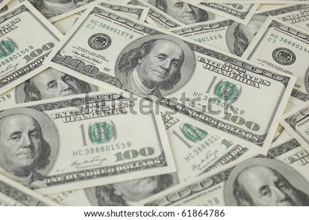 Japanease 10000 yen and 100 Dollar . - stock photo