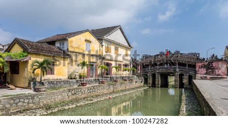 Japanese Bridge, Hoi An, Vietnam - stock photo