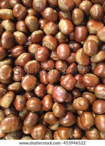 Japanese chestnuts after roasted.  - stock photo