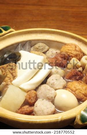Japanese cuisine, Oden  - stock photo