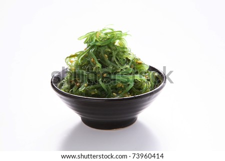 seaweed salad sliced marinated herring in sliced marinated herring in