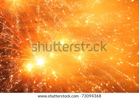 Japanese firework - stock photo