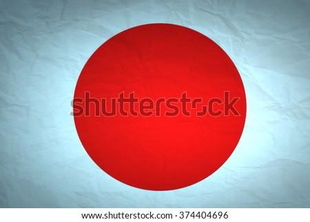 Japanese flag  - stock photo