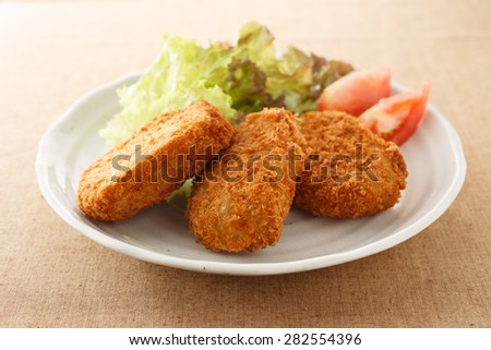 japanese food croquette - stock photo