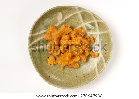 Japanese Food - sea urchin?  - stock photo
