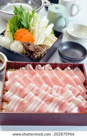 Japanese Food-Shabu-shabu Set-2 - stock photo