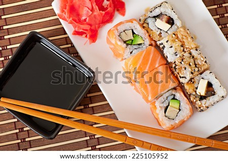 Japanese food - Sushi and Sashimi - stock photo