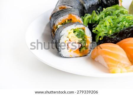 Japanese food,Sushi and Sashimi - stock photo