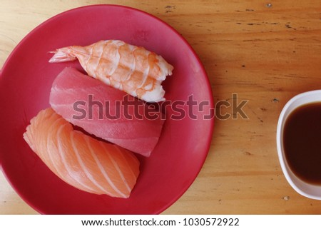 Japanese food - Sushi of salmon & tuna sushi