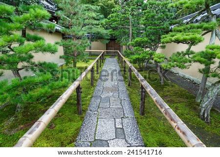 Japanese Garden at Koto-in Temple in Kyoto, Japan - stock photo