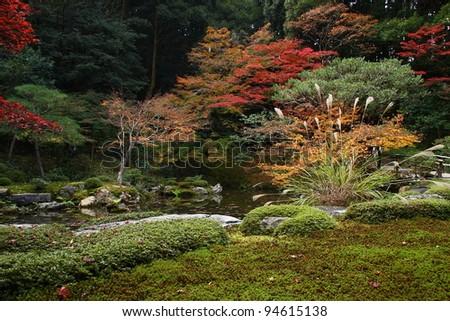 Japanese garden in Nanzen-ji temple (Kyoto) - stock photo