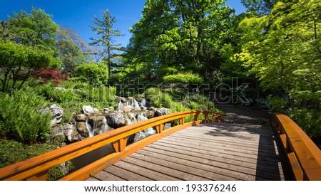 Japanese garden in Vienna - Setagayapark - stock photo