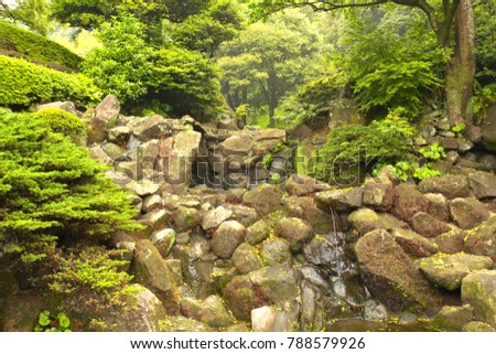 Japanese garden of Sengan-en in Kagoshima, Japan : May 7, 2010