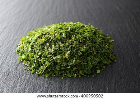japanese green laver - stock photo