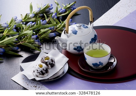 Japanese green tea - stock photo