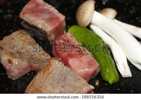 Japanese grilled Omi beef
