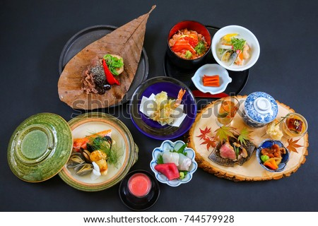 Japanese Kaiseki Seasonal Food Menu Dishes