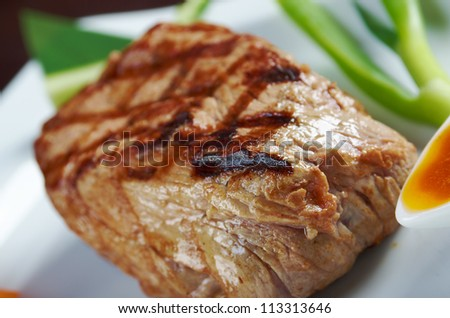 Japanese Kobe beef  Roast.Shallow depth-of-field. - stock photo