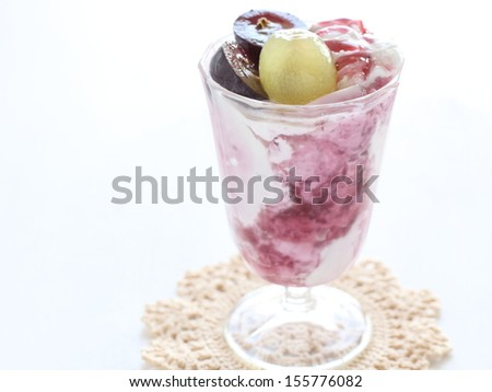 Japanese Kyoho grape Smoothie for healthy food drink image - stock photo