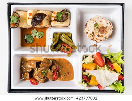 Japanese Meal in a Box (Bento)  - stock photo