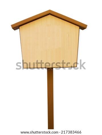 Japanese notice wood board, wishing, praying board. - stock photo