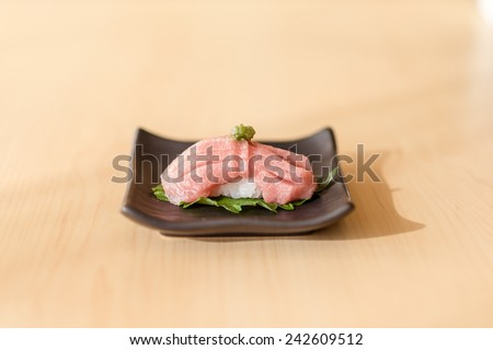 Japanese Otoro Sushi (Makuro) - stock photo