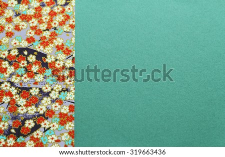 Japanese paper for Background and texture - stock photo