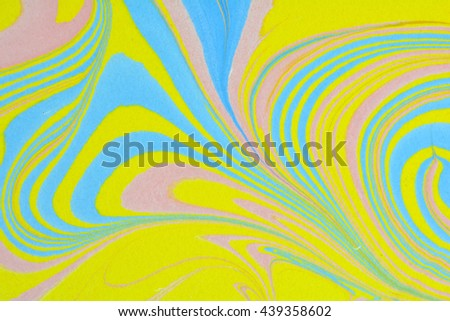 Japanese paper. Paper marbling pattern, ink marble. Oil paint marbling. Ebru marble liquid colors. - stock photo