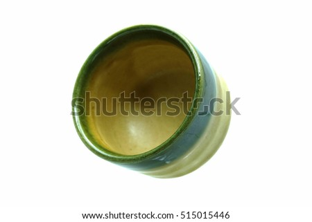 Japanese sake cup isolated on white background.