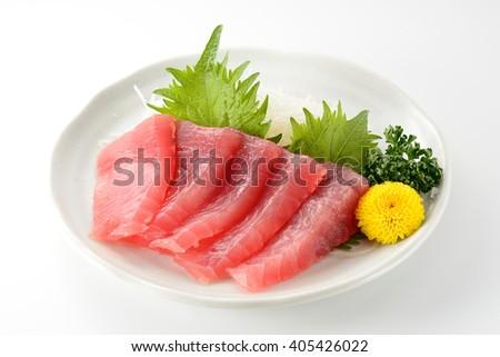 japanese sashimi tuna - stock photo