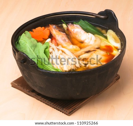 japanese seafood soup, asian cuisine.
