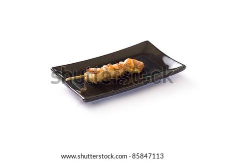 Japanese skewered chicken,Yakitori - stock photo