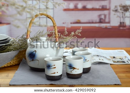 Japanese Style Hand Painted tea set