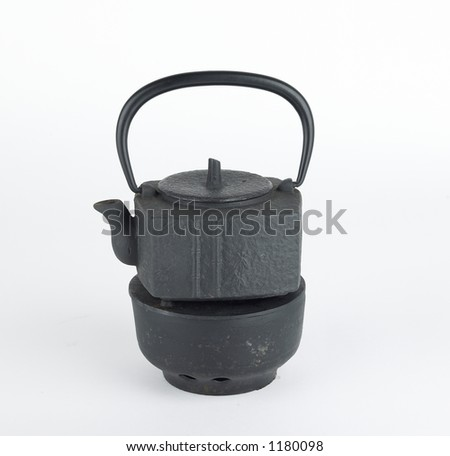 Japanese tea pot - stock photo
