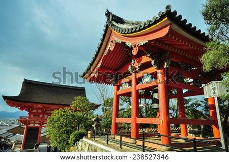 Japanese temple / Kiyomizu-dera - stock photo