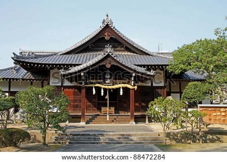Japanese temple, Matsuyama, Japan - stock photo