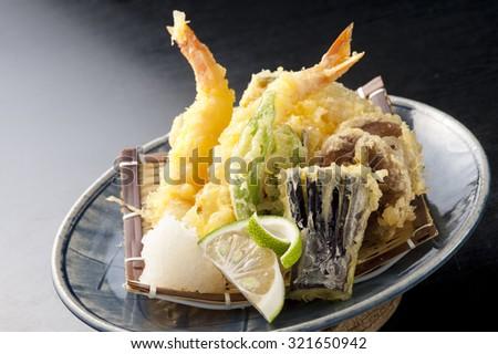 Japanese tempura - stock photo