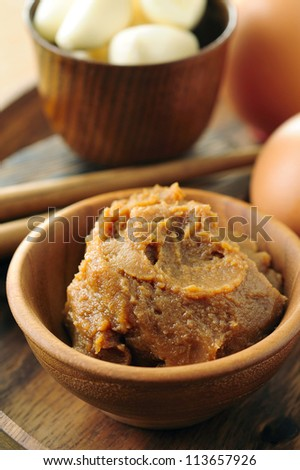 Japanese traditional soybean processed foods - stock photo