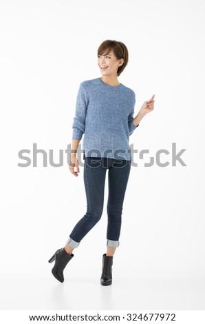 Japanese woman, - stock photo
