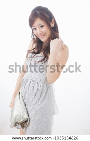 Japanese woman wearing a dress