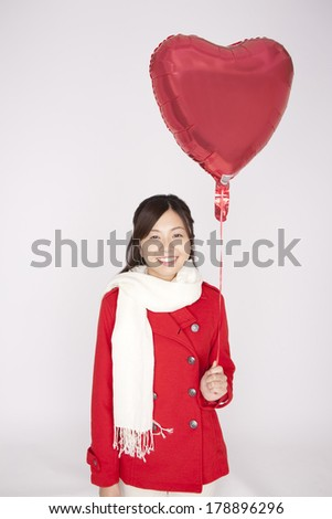 Japanese woman with a balloon