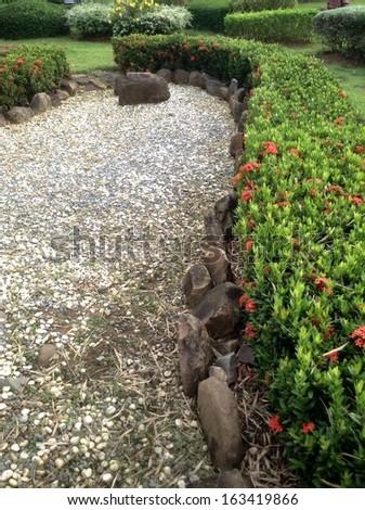 Japanese zen gardens - stock photo