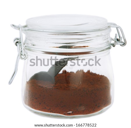 Jar of instant coffee isolated on white