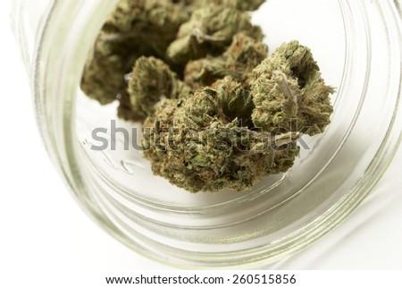 Jar of Marijuana  - stock photo